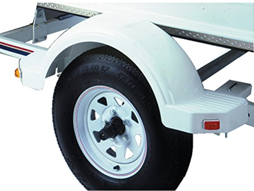 Fulton 508573 13'' White Fender with Step by Fulton