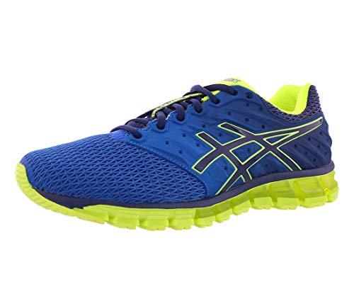 ASICS Men's Gel-Quantum 180 2 Running Shoe, Imperial/Safety Yellow/Indigo Blue, 10.5 M US