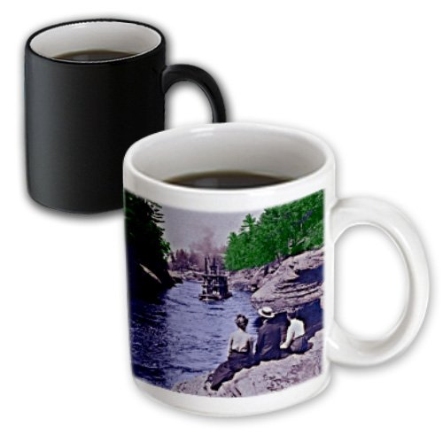 3dRose Vintage 1899 Wisconsin Dells Narrows Magic Transforming Mug, - Wisconsin Dells Outlets