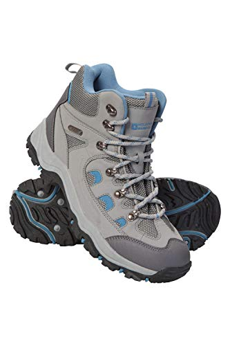Mountain Warehouse Adventurer Womens Waterproof Hiking Boots Light Grey Womens Shoe Size 8 US