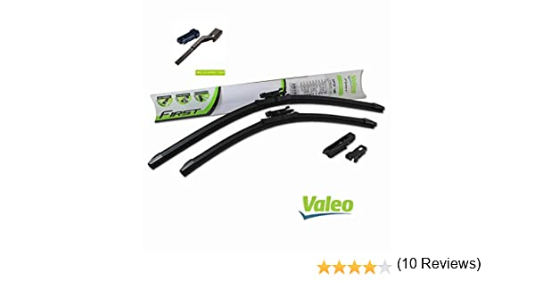VALEO: Juego de 2 escobillas de limpiaparabrisas planos con rascadores 60/40cm: Amazon.es: Coche y moto