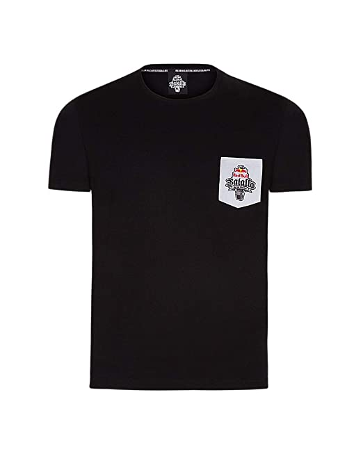 7a997e2e183cd Red Bull Camiseta Batalla de los Gallos Original de Ropa Hombre de Manga  Corta en Negro Hip Hop Rap Freestyle Streetwear