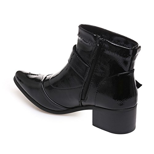 Vernies Bottines en La Pointu Modeuse Simili Cuir Bout 7wAX5T