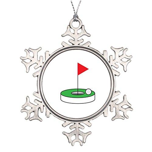 SMALL Poppy Personalised Christmas Tree Decoration Golfer's pin Large Christmas Tree Snowflake ()