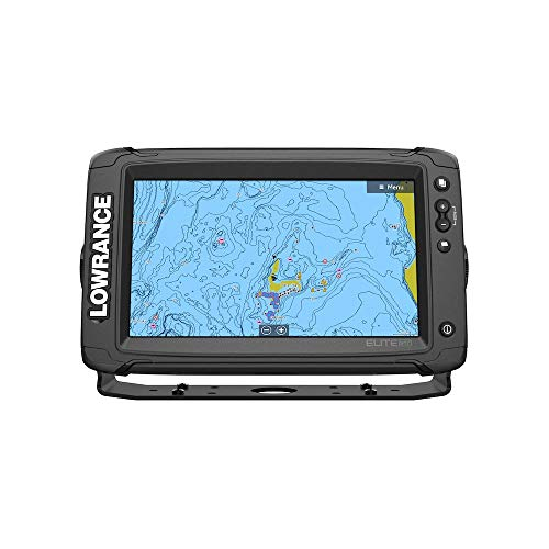 Lowrance Elite-9 Ti2 Fishfinder/Chartplotter Combo with Active Imaging 3-in-1 Transom Mount Transducer & US Inland Chart ()
