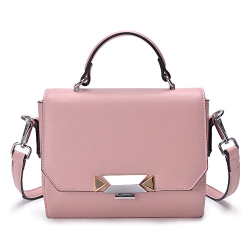 Di Gwqgz Handbag Bloccaggio Metallo In Moda Rosa La Ladies Pink REwrqFRx