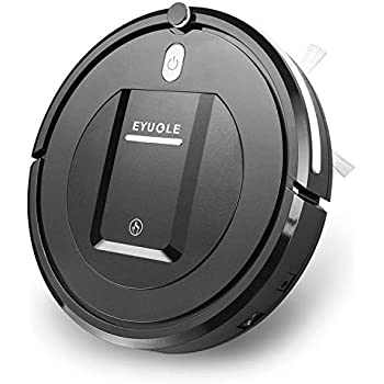 EYUGLE Robotic Vacuum Cleaner, Robot Vacuum w/Slim Design, Higher Suction, Anti-Drop Sensing Tech for Hard Floor, w/HEPA Filter Good for Pet Hair