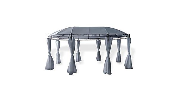 Cenador (3, 5 x 5, 3 m Ovalado de Metal pulverizado con Techo ...