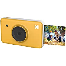 Kodak Mini SHOT Instant Print Digital Camera & Printer With LCD Display, Premium Quality Instant Prints w/4PASS Patented Printing Technology (Yellow) – Wireless Connectivity Compatible w/iOS & Android