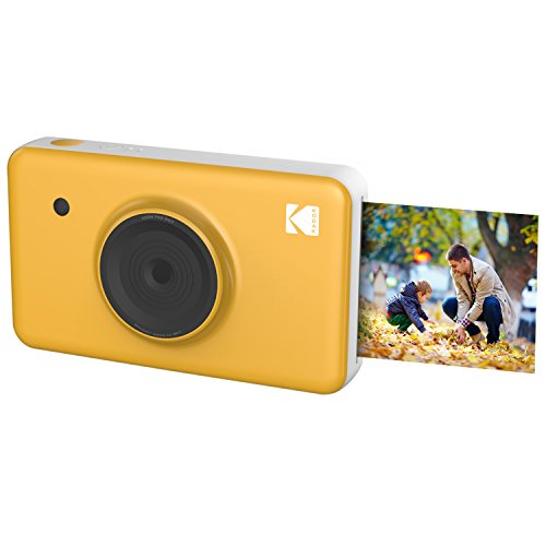 Kodak Mini SHOT Wireless 2 in 1 Instant Print Digital Camera & Printer With LCD Display w/4PASS Patented Printing Technology (Yellow) (Tv And Point Shoot)
