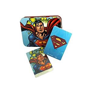 Superman Two-Deck Playing Cards Set with Collectible Tin