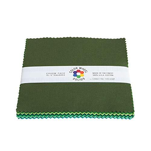 Connecting Threads Color Wheel Premium Precut Fabric Bundle (Forest Park Charm Squares)