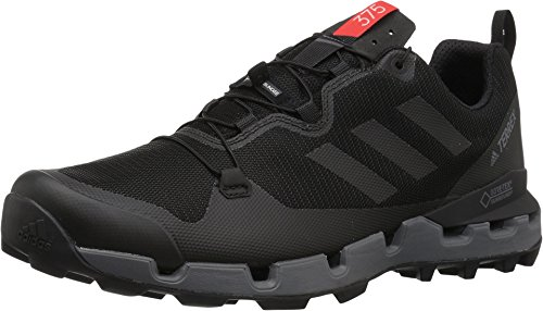 - adidas outdoor Terrex Fast GTX-Surround Mens Hiking Boot Black/Grey Five/Hi-Res Red, Size 10.5