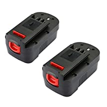 efluky 2PCS 18V Replacement Battery for Black & Decker HPB18 HPB18-OPE 244760-00 A1718 A18 A18E Firestorm FS180BX FS18BX FS18FL FSB18 NST2118