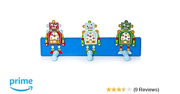 Kids Blue Robot Themed Coat Wall Hook for Boys