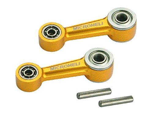 Microheli Aluminum Washout Control Arm set (GOLD) - BLADE 300X