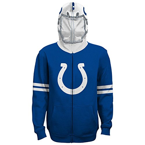 Indianapolis Colts Youth Full Zip (NFL Youth Boys 8-20  Indianapolis  COLTS