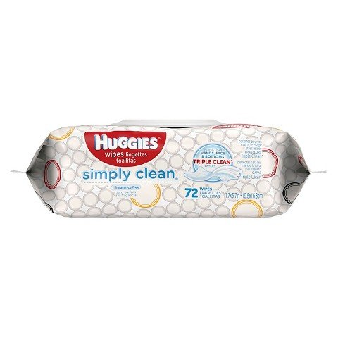 Huggies Simply Clean Baby Wipes, Soft Pack - (72 Count)