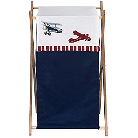 Sweet Jojo Designs Baby And Kids Clothes Vintage Aviator Airplane Laundry Hamper