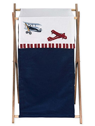 Sweet Jojo Designs Baby and Kids Clothes Vintage Aviator Airplane Laundry Hamper ()