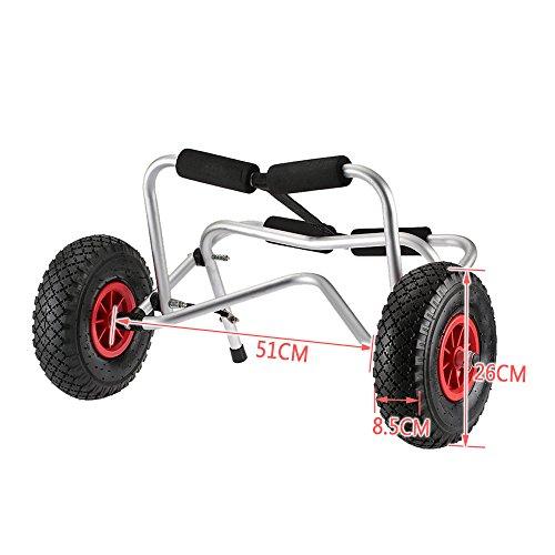 Docooler Loading Capacity Foldable Kayak Trolley Energy-saving Two-wheeled Carrier Cart for Kayak Canoe Boat (75KG) by Docooler (Image #3)