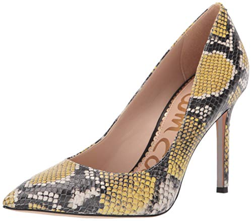 Sam Edelman Women's Hazel Pump Tuscan Yellow/Multi Snake Print 5.5 M - Pointed Pumps Toe Print