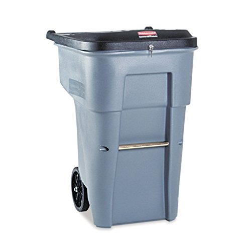 Commercial Confidential Document Container - RCP9W1088GY - Polyethylene - Rubbermaid Commercial Brute Confidential Document Roll-Out Container - Each