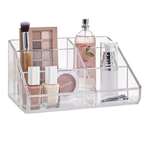 STORi Clear Plastic Desktop Makeup Organizer