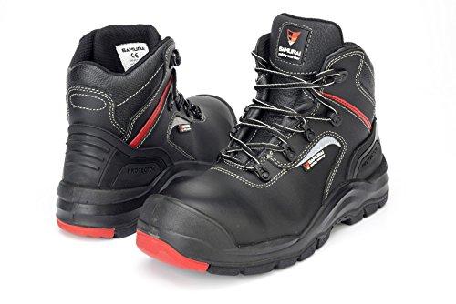 Samurai 1034305005Paar Schuhe Hohe Invicta S3HRO HI CI SRC, schwarz/rot, 42