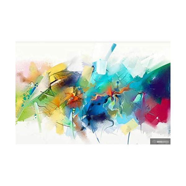 LIWALLPAPER-Carta-Da-Parati-3D-Fotomurali-Linee-Astratte-DellAcquerello-Verde-Camera-da-Letto-Decorazione-da-Muro-XXL-Poster-Design-Carta-per-pareti-200cmx140cm