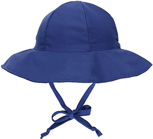 SimpliKids UPF 50+ UV Ray Sun Protection Wide Brim Baby Sun Hat, Navy #1, 12-24 Months