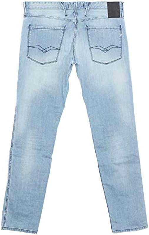 Replay męskie dżinsy Slim Fit Anbass Light Blue długość kroku L32: Odzież