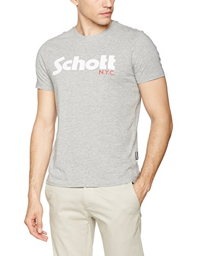 Homme h Nyc Gris Schott T Tslogo Grey shirt qTfZSIzw