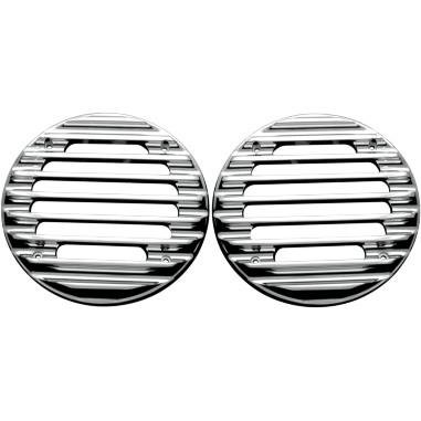 Covingtons Rear Finned Speaker Grilles - Chrome C0022-C by Covingtons