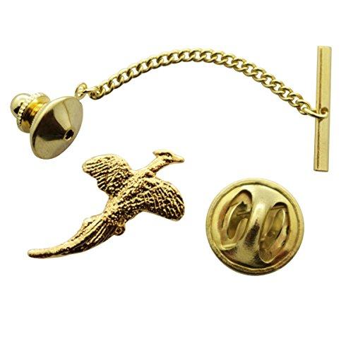 Pheasant Tie Tack ~ 24K Gold ~
