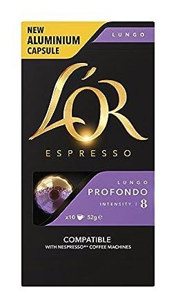 LOR Nespresso® Línea original compatible Cápsulas de aluminio Set de 5 sabores Paquete de variedades 50 vainas: Amazon.es: Alimentación y bebidas