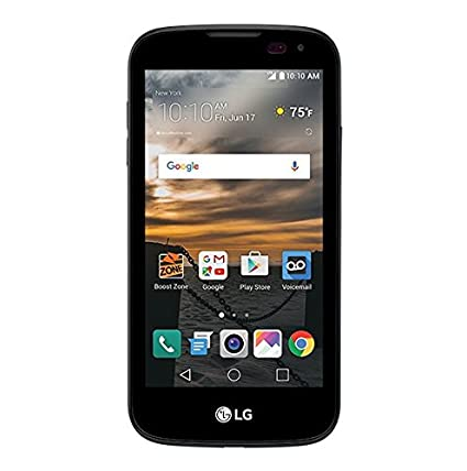 lg phone black. boost mobile - lg k3 with 8gb memory prepaid cell phone black lg