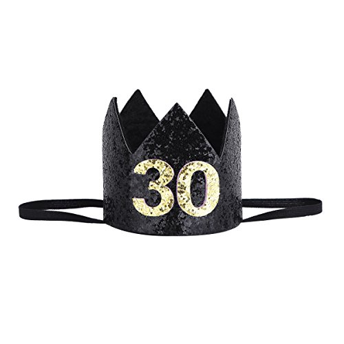 Amazon CHICTRY Adult 30th Birthday Grown Headband Party Decoration Supplies BlackBlue One Size Clothing