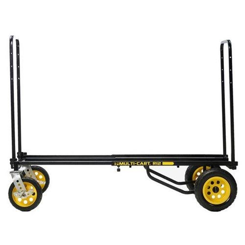Rock-N-Roller R12RT (All Terrain) 8-in-1 Folding Multi-Cart/Hand Truck/Dolly/Platform Cart/34 to 52 Telescoping Frame/500 lbs. Load Capacity, Black