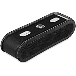 Fintie Beats Pill Plus Pill+ Case - Premium PU Leather Protective Cover with Removable Holding Strap + Carabiner Keychain for Apple Dr. Dre Beats Pill+ Pill Plus Bluetooth Portable Speaker, Black