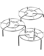 Set of 3, Stainless Steel Trivet Rack Stand, SourceTon 3 Sizes Heavy Duty Pressure Cooker Steam Rack, Steaming Rack, Pot Pan Cooking Stand- 1.2 Inch, 2 Inch, 2.8 Inch