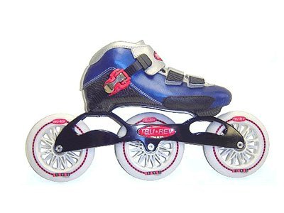 Trurev Youth Inline Skates 3-110 Blue- Size 3