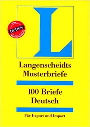 Langenscheidts Musterbriefe 100 Briefe Deutsch Für Export Und