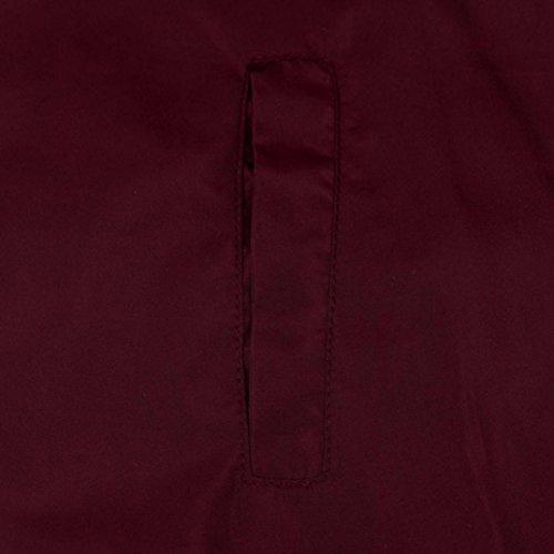 Chiusura A Giacca Felpe Overdose Manica Cerniera Rosso Cappotto Donna Lunga qX1wRRI7