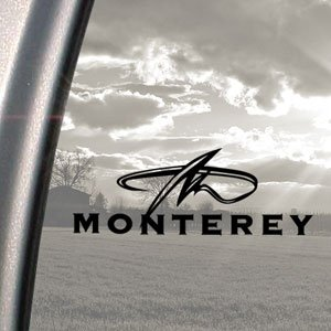 Monterey Black Decal Monterey Boat Truck Window Sticker Amazonco - Decals for boats uk