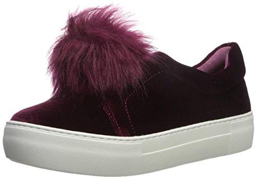 burgundy JSlides Aurora Sneaker V velvet Women's wafSI7qv