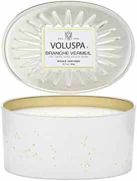 Voluspa Branche Vermeil 2 Wick Candle In Decor Oval Tin 12.7 oz