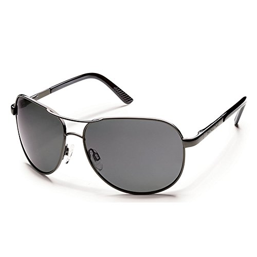 Suncloud Optics Aviator Sunglasses(Gun Metal,Gray - Polarized Sunglasses Suncloud Aviator