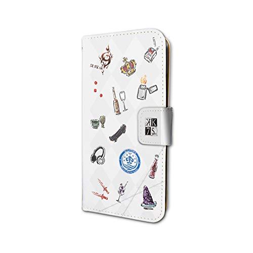 K SEVEN STORIES 02 赤のクラン(吠舞羅)&青のクラン(セプター4) (グラフアートデザイン) 手帳型スマホケース iPhone6/6S/7/8兼用の商品画像