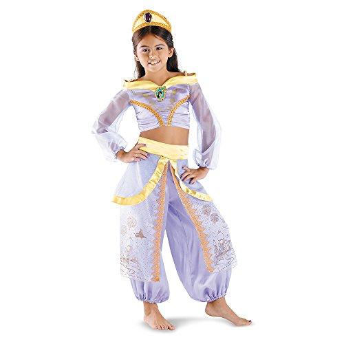 Disguise Disney Aladdin Storybook Jasmine Prestige Girls Costume, One Color, 4-6X]()